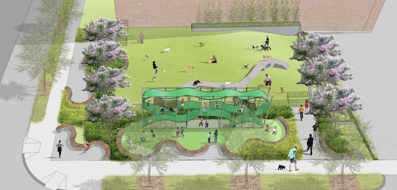 Landscape Park With Building Designs